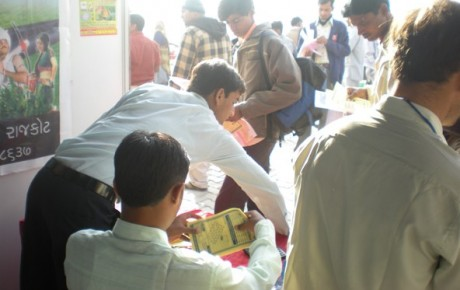 Visitors at OM Irritech Stall - Unjha Trade Fair